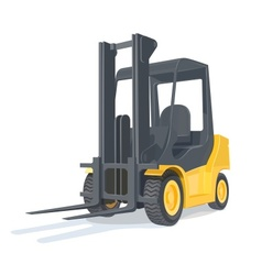 Loader car vector image vector image