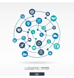 Logistic connection concept Abstract background vector image vector image