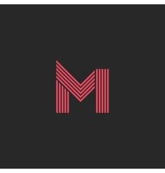 Logo letter M monogram initial design element vector image vector image