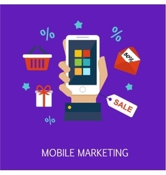Mobile marketing concept art vector