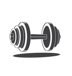 Monochrome dumbbell icon vector image vector image
