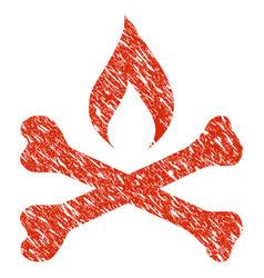 Mortal ignition icon grunge watermark vector