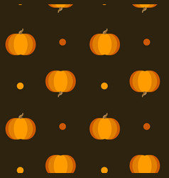 orange pumpkins seamless pattern vector image vector image