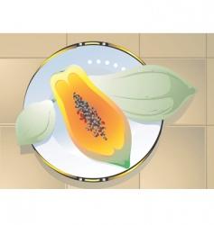papaya vector image