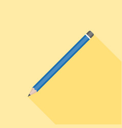 pencil icon flat design with long shadow vector image vector image