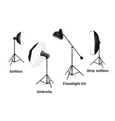 Studio lighting equipment isolated on white vector image