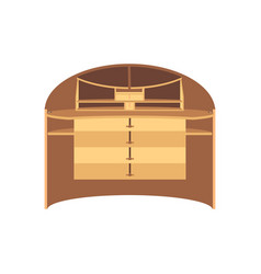 table wooden wood desk background design office vector image