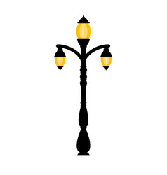 vintage streetlight on white background vector image
