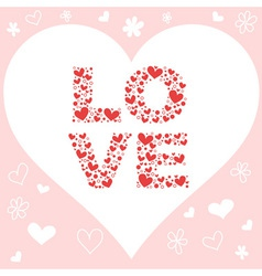Valentine day pink love invitation card vector image