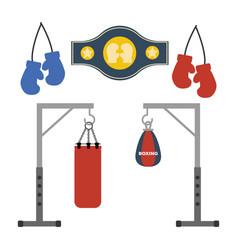 Boxing set vector