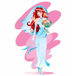 the bride vector image