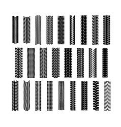 Tire shapes set vector