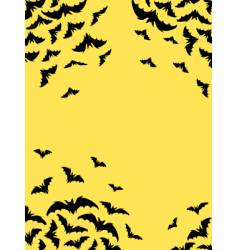 bats card vector image