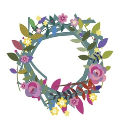 Wreath from field flowers vector