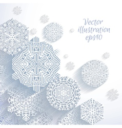 3D Abstract Snowflakes vector image