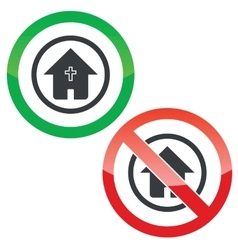 Christian house permission signs vector