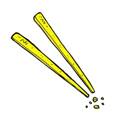 Comic cartoon chopsticks vector
