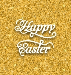 Abstract easter card with hand written phrase vector
