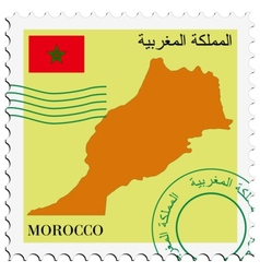 Mail to-from morocco vector