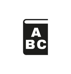 Alphabet icon design Library and ABC vector image vector image