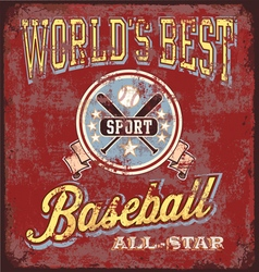Baseball world best sport vector