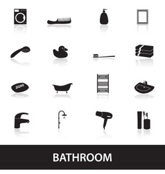 Bathroom icons eps10 vector