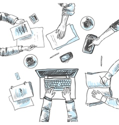 Business meeting sketch vector