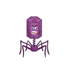 Cartoon virus character isolated vector