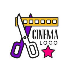 Cinema logo template creative design vector