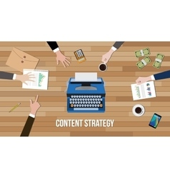 Content strategy concept team work together with vector