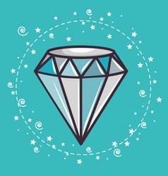 diamond sticker design vector image