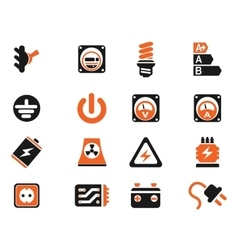 Electricity simply icons vector image