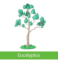 Eucalyptus cartoon tree vector