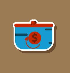 Fashion patch sale sticker purse discount vector