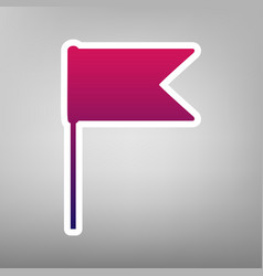 Flag sign purple gradient vector