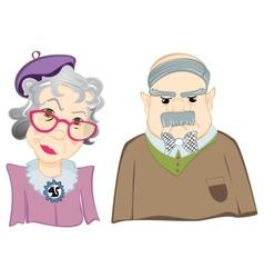Grandparents vector