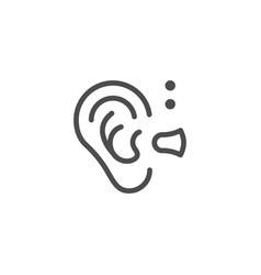 hearing aid line icon vector image vector image