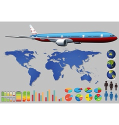 Infographic plane vector image