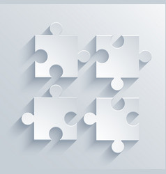 modern puzzle icon Eps 10 vector image vector image