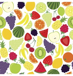 Multifruit pattern vector image