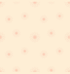 Pink flowers on light cream background vector