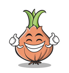Proud face onion character cartoon vector