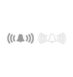 Ringing bell set icon vector