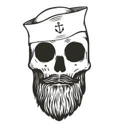 sailor skull vector image