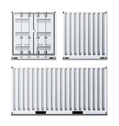white cargo container classic cargo vector image