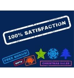 100 percent satisfaction rubber stamp vector