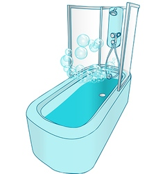 Bath and shower vector