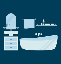 bathroom in a flat style vector image