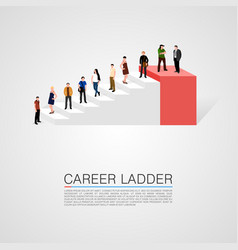 career ladder with people conceptual vector image