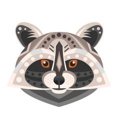 Raccoon head logo decorative emblem vector